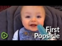 Safe to say this baby is satisfied with his first popsicle