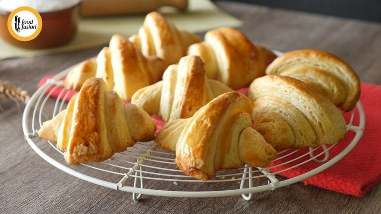 Easy Bread Croissant Recipe By Food Fusion