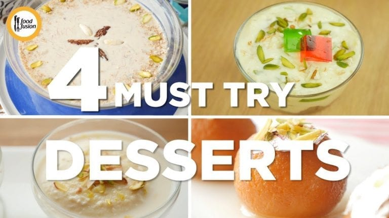4 must try dessert recipes by Food Fusion