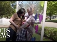 """Great-grandmother gets to embrace family through """"hug time"""" device"""