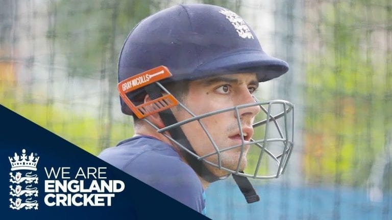 England Team In The Nets With The Lions - The Ashes 2017/18