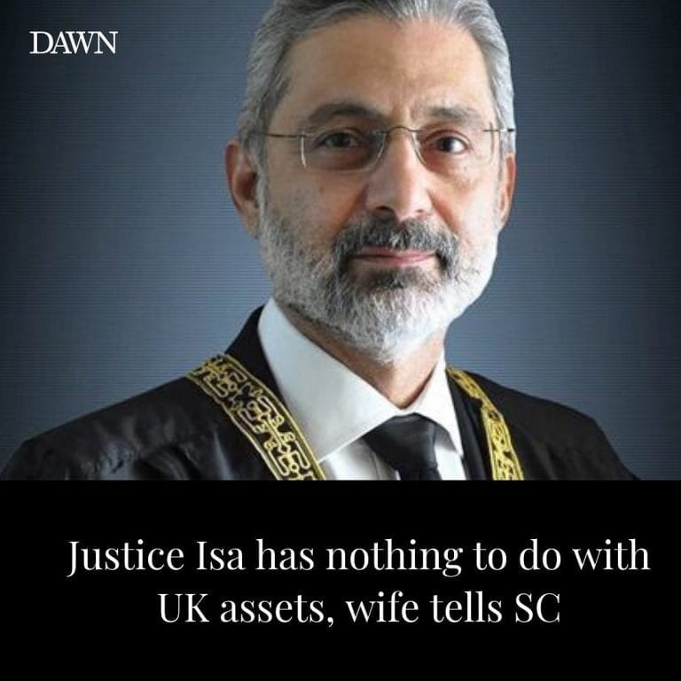 A teary-eyed Mrs Justice Qazi Faez Isa on Thursday presented before the Supreme ... 3