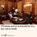 Prime Minister Imran Khan arrived in Karachi on Tuesday for a two-day visit to S... 6