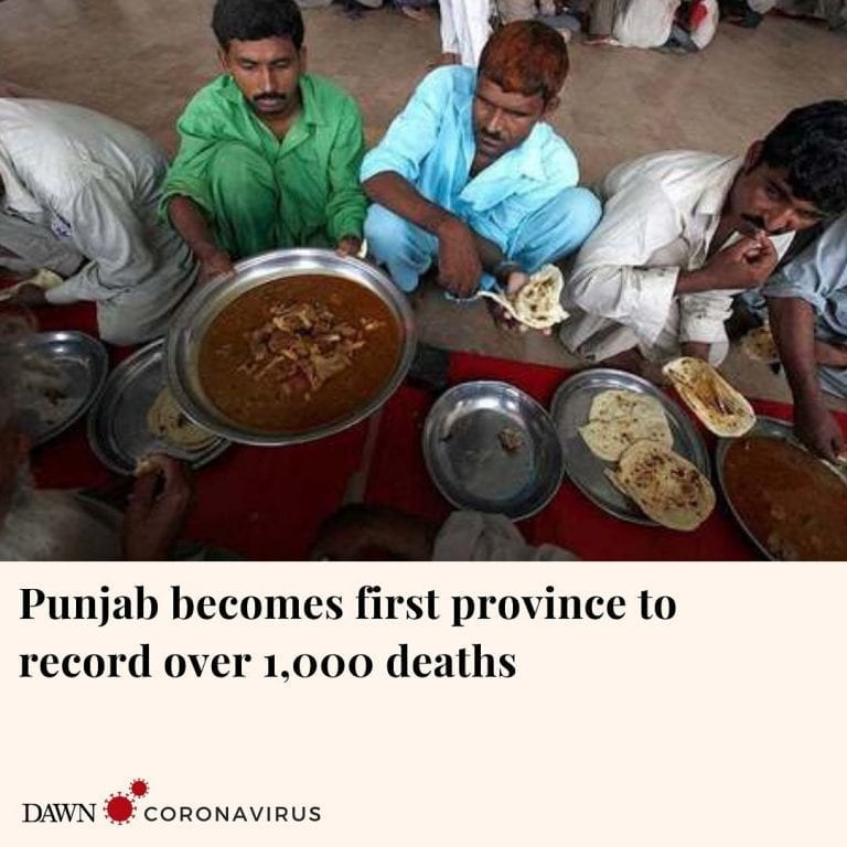 The national database for coronavirus shows that Punjab has reported another 1,5... 3