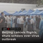 Beijing's airports cancelled two-thirds of all flights on Wednesday and schools ... 5