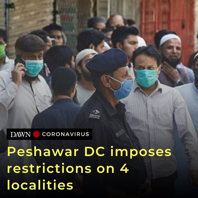 """The Peshawar deputy commissioner has directed officials to enforce """"controlled e... 3"""