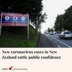 New Zealand has recorded its third new case of the coronavirus this week as quar... 5
