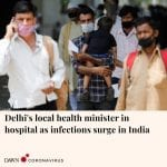 The health minister in Delhi's state government Satyendar Jain has checked into ... 5