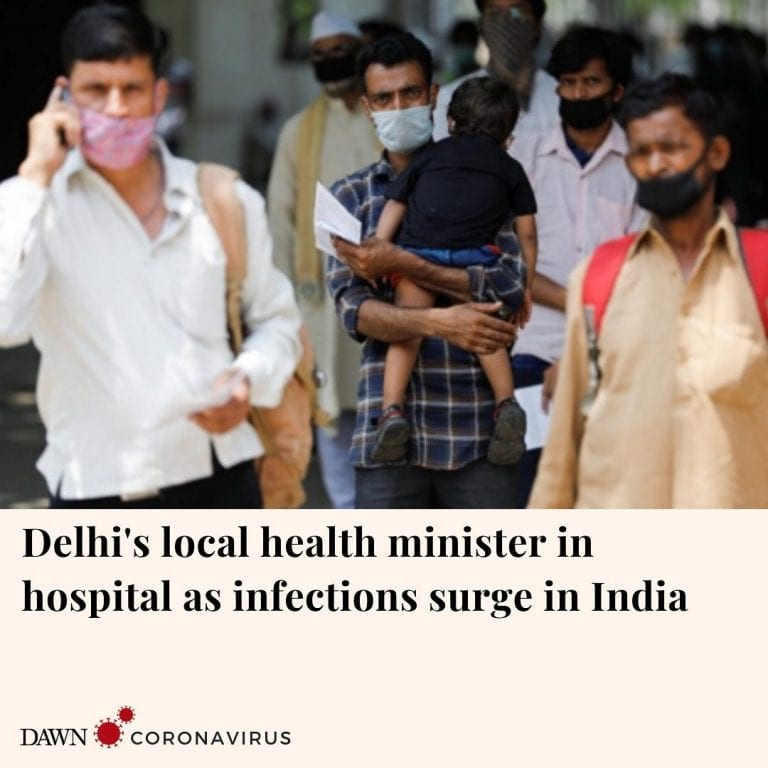 The health minister in Delhi's state government Satyendar Jain has checked into ... 3