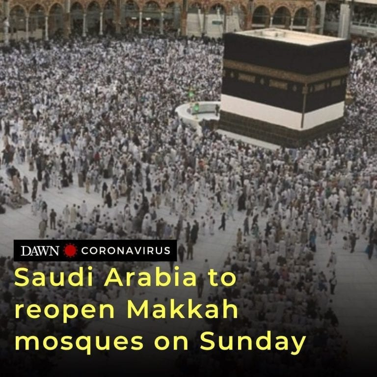 Saudi Arabia plans to reopen from Sunday mosques in Makkah after they were close... 3