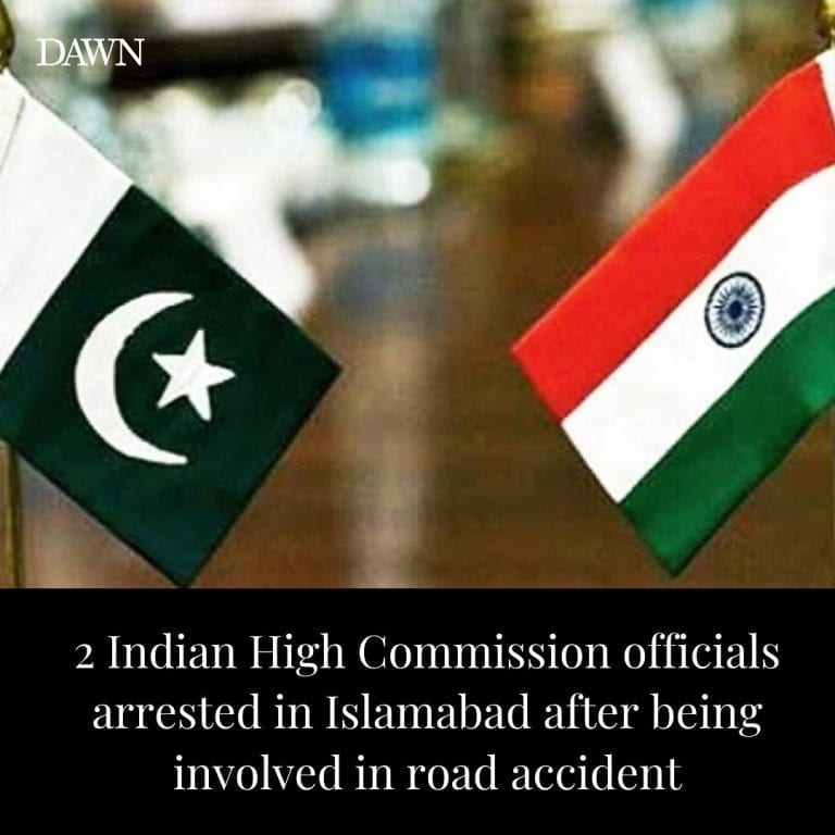 Two officials of the Indian High Commission in Pakistan were handed over to the ... 3