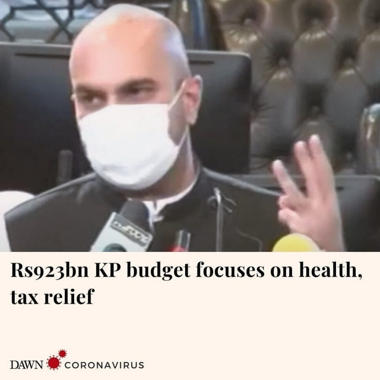 The Khyber Pakhtunkhwa government on Friday unveiled the Rs923 billion budget fo... 3