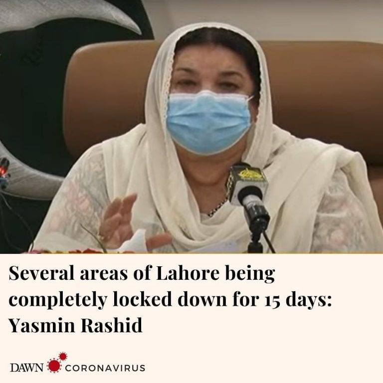 Punjab Minister for Health Dr Yasmin Rashid has said that some areas of Lahore a... 3