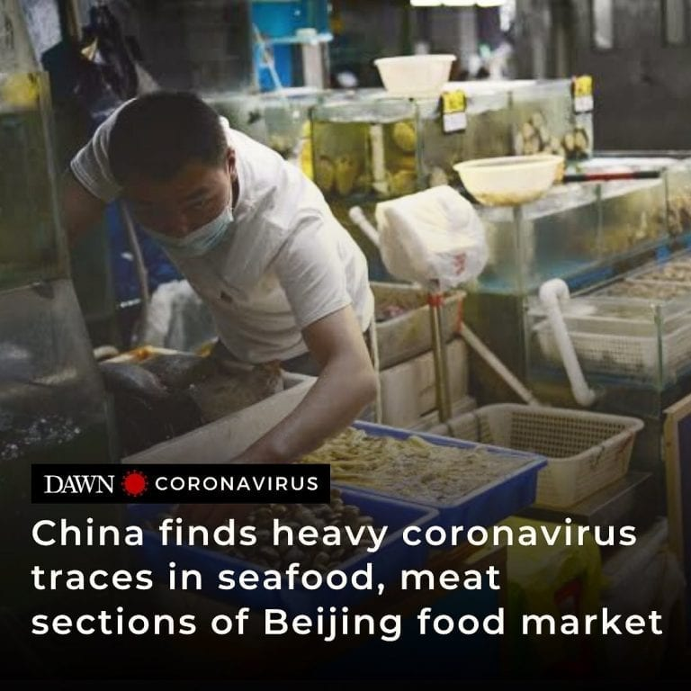 China has found the trading sections for meat and seafood in Beijing's whol... 3