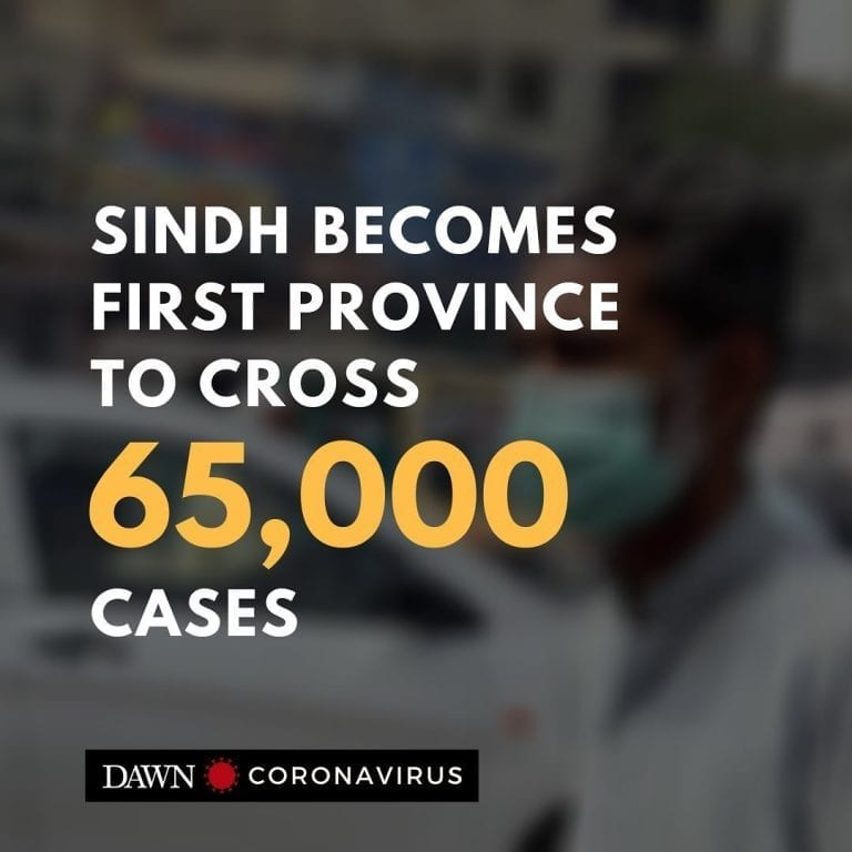 Sindh has become the first province to cross 65,000 coronavirus cases. Chief Min... 3