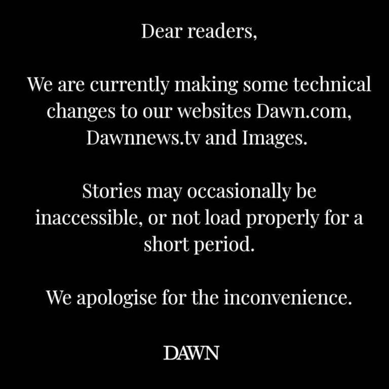We're facing some technical issues with our websites and will be back soon. We a... 3