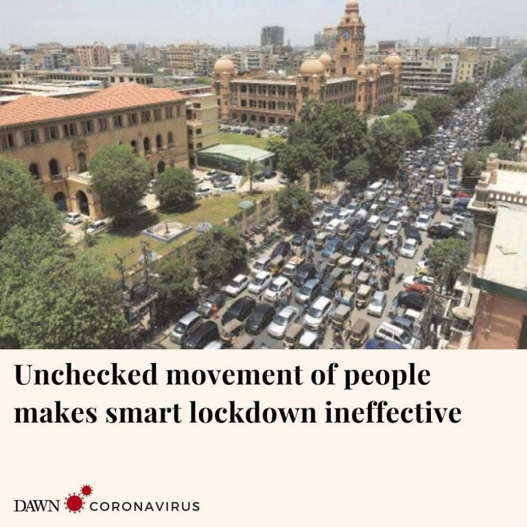 The smart lockdown imposed by the Sindh government to contain the spread of coro... 3