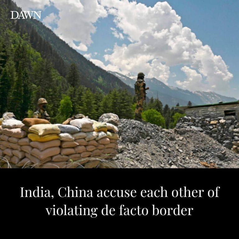 India and China on Saturday each traded accusations that the other had violated ... 3