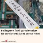 Officials in Beijing are carrying out nucleic acid tests on all food and parcel ... 6