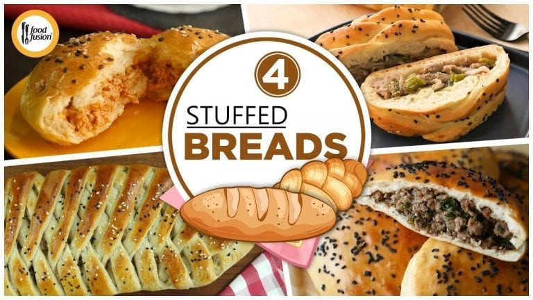 4 Stuffed Bread Recipes By Food Fusion