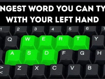 There Are Doubled Keys on a Keyboard for a Reason