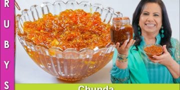 Kachay Aam ya Keri ka Chunda Sweet & Sour Grated Mango Pickle Recipe in Urdu Hindi - RKK