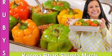 Keema Bhari Shimla Mirch (Bell Peppers) ka Salan Recipe in Urdu Hindi - RKK