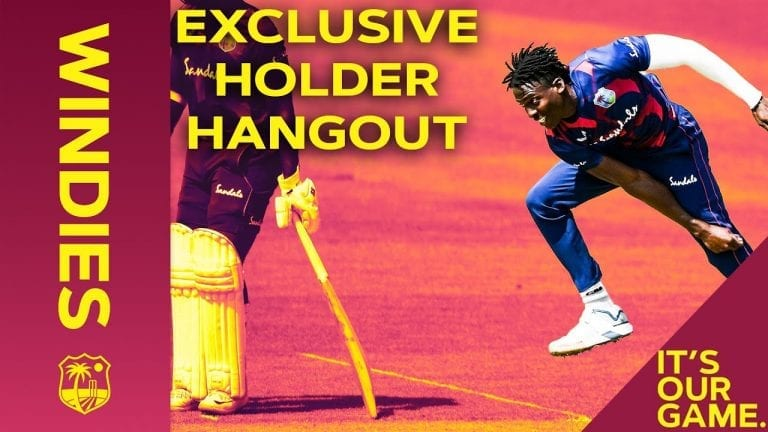 Hangout with new fast-bowling star Chemar Holder!   Maroon Hangouts   Windies