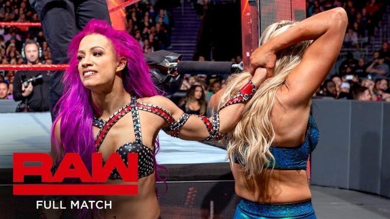 FULL MATCH - Flair vs. Banks - Raw Women's Title Falls Count Anywhere Match: Raw, November 28, 2016