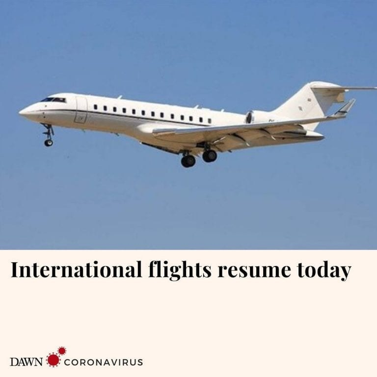 The government has allowed resumption of international flight operations to and ... 3