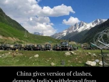 China has demanded a withdrawal of Indian personnel and facilities from Galwan v... 12