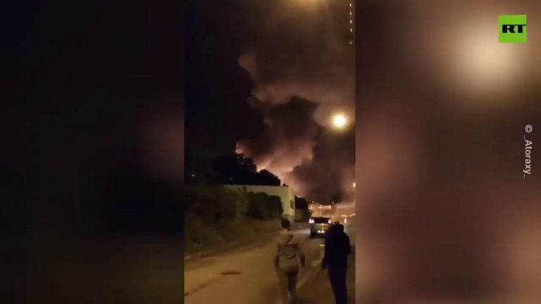Supermarket on fire | Dozens evacuated after massive explosions in western France