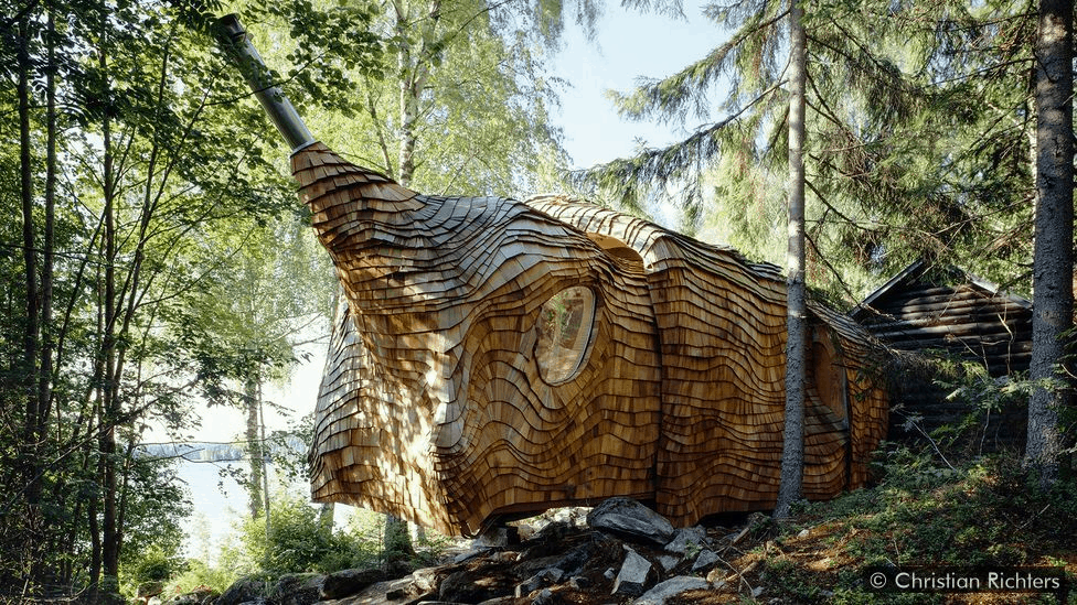 The cabin can be adjusted to its environment depending on the weather (Credit: Christian Richters)