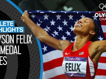 All Allyson Felix 🇺🇸 Olympic Medal Races | Athlete Highlights 2