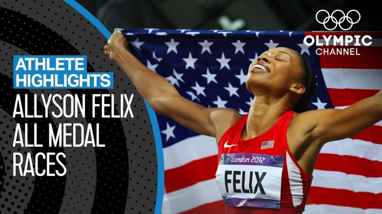 All Allyson Felix 🇺🇸 Olympic Medal Races | Athlete Highlights 1