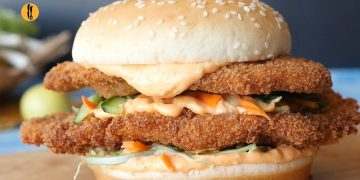 Katsu Fried Chicken Burger Recipe By Food Fusion