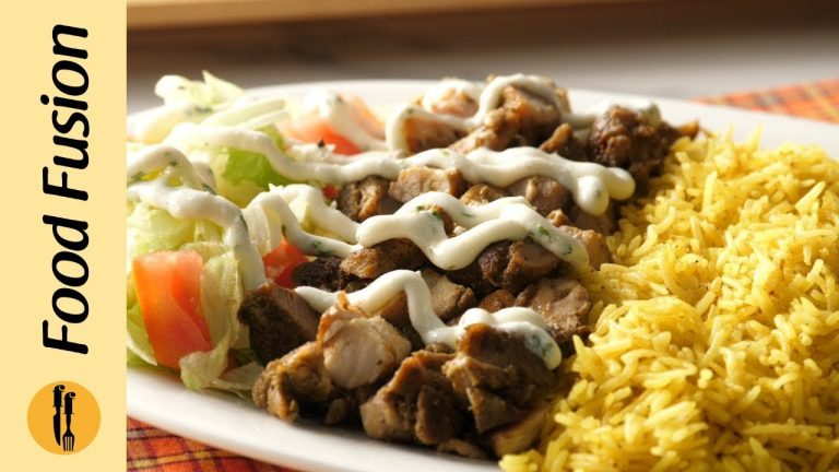 Cart style Chicken and Rice Recipe By Food Fusion