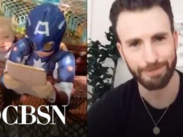 Chris Evans surprises heroic 6-year-old who saved sister from dog attack