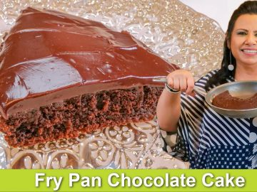 No Bake Fry Pan Chocolate Cake with Frosting Recipe in Urdu Hindi - RKK
