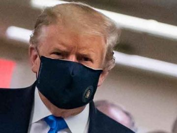 Coronavirus: Trump dons mask for the first time in public 5