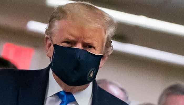 Coronavirus: Trump dons mask for the first time in public 1