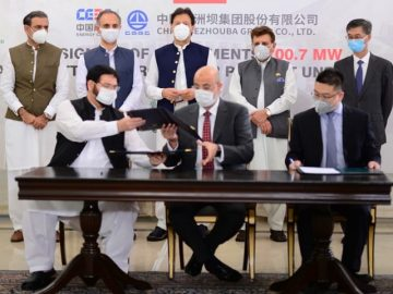 Pakistan, China sign an agreement for construction of Azad Pattan Hydel Power Project 1