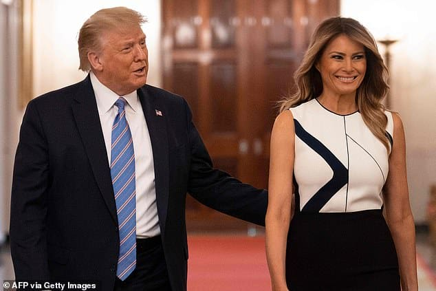 Donald Trump slams Harvard for not fully reopening in fall as he threatens 'pressure' on governors to get schools open again at White House event with Melania 1
