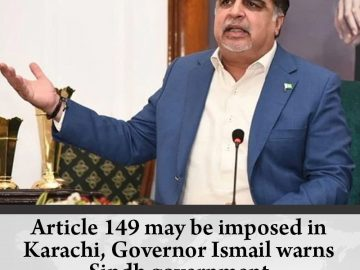 #Article149 may be imposed in #Karachi, Governor Ismail warns #Sindh government ... 10
