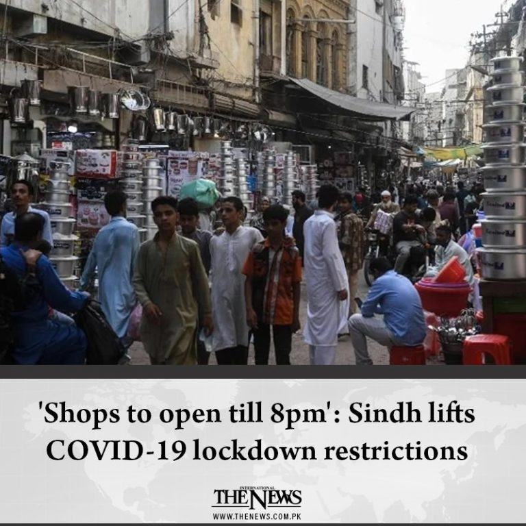'Shops to open till 8pm': Sindh lifts COVID-19 #lockdown restrictions  Details: ... 3