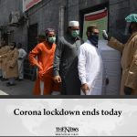 Corona lockdown ends today Read more: #TheNews 1