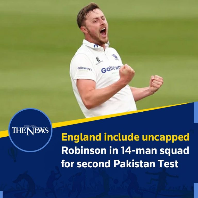 #England include uncapped #Robinson in 14-man squad for second #Pakistan Test  D... 3