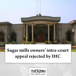The #IHC reserved its judgment on an appeal of the #SugarMillsAssociation agains... 6