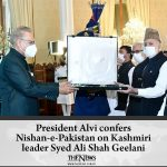 The award was received by the Hurriyat AJK leaders on behalf of Syed Ali Geelani... 2