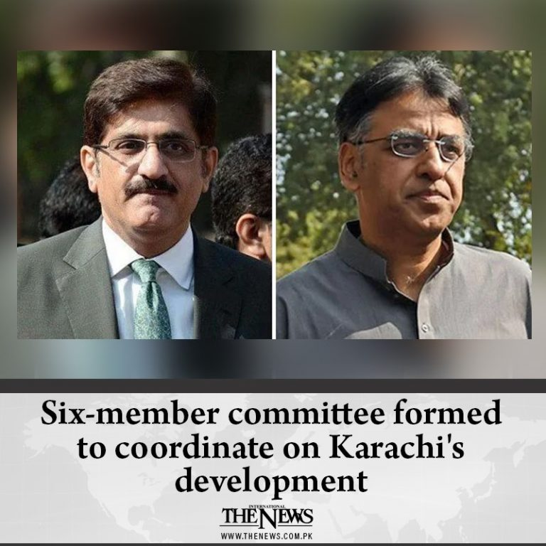 Six-member committee formed to coordinate on Karachi's development Details: #... 3